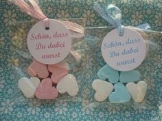 Party Favors - ♥ Party Favor to Christening! ♥ - a unique product by fiha on DaWanda Father Birthday Gifts, Mother Birthday, Baby Birthday, Fotos Baby Shower, Baby Boy Shower, Baby Shower Gifts, Christening Decorations, Christening Gifts, Baby Party