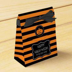#affiliatelink #promo Custom black and orange Halloween party favor box #striped #party #favor #thank #you #halloweenfavors #halloweenparty #halloween #halloweenentertaining #zazzle Halloween Party Favors, Halloween Bags, Happy Halloween, Pumpkin Face Carving, Pumpkin Head, Trick Or Treat Costume, Halloween Entertaining, Diy Party Supplies, Diy Gift Box