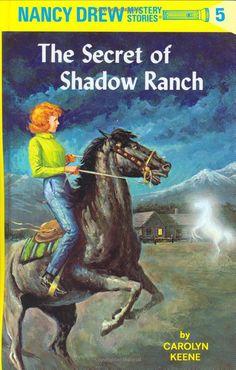 Nancy Drew Secret of Shadow Ranch Carolyn Keene AR Hardcover Book Mystery Nancy Drew Mystery Stories, Nancy Drew Mysteries, Cozy Mysteries, Mystery Books, Mystery Series, Detective, Books To Read, My Books, Reading Books