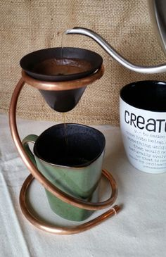 Major Myk's Coffee Hat Drip Stand and 224 Porcelain Coffe' Hat Filter by MajorMyk2014 on Etsy https://www.etsy.com/listing/264876956/major-myks-coffee-hat-drip-stand-and-224