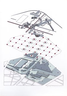 Bernard Tschumi's design of the Parc de la Villette, Paris (1982–1998)