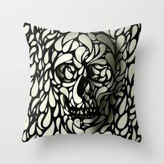 Skull Throw Pillow by Ali GULEC - $20.00