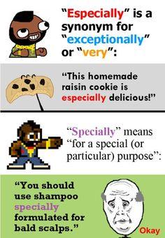 Especially vs. Specially