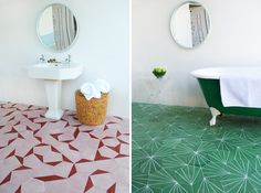 // claesson koivisto rune: contemporary moroccan tiles >> WOW! That green floor is perfection!