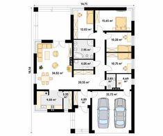 Decyma projekt domu - Jesteśmy AUTOREM - DOMY w Stylu Best House Plans, Good House, Sliders, New Homes, Floor Plans, How To Plan, Floor Plan Drawing, House Floor Plans, Romper