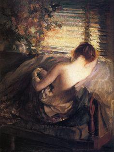 Edmund C. Tarbell (American 1862–1938)  The Venetian Blind (1898)