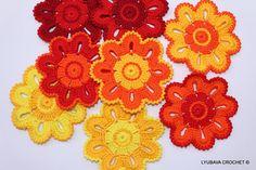 Crochet PATTERN  Flower Coaster Pattern  Crochet por LyubavaCrochet, $3.50