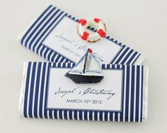 nautical chocolates | Nautical Personalised Chocolate Bar Bonboniere