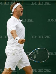 Tennis - Wimbledon Championships 2016 Day One All England Lawn Tennis & Croquet Club, Church Rd, London, United Kingdom - 27 Jun 2016  Marcus Willis of Great Britain celebrates winning his first round during Day One of the 2016 Wimbledon Championships at the All England Lawn Tennis Club, Wimbledon, London on the 27th June 2016 27 Jun 2016