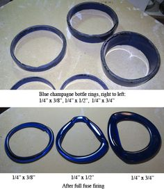 Recycled Blue Champagne bottle rings
