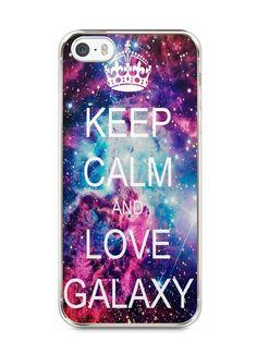 Capa Iphone 5/S Keep Calm and Love Galaxy - SmartCases - Acessórios para celulares e tablets :)