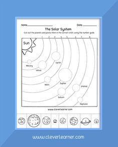 Weltraum Kindergarten The planets in the solar systemYou can find Planets and more on our website.Weltraum Kindergarten The planets in the solar system Solar System Worksheets, Solar System Activities, Solar System Crafts, Solar System Planets, Science Worksheets, Space Preschool, Preschool Science, Science For Kids, Planets Preschool