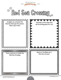 Miracles of the Bible: Red Sea Crossing workbook by Bible Pathway Adventures Classroom Sunday School Lessons, Lessons For Kids, Bible Lessons, Family Bible Study, Bible For Kids, Bible Parables, Sea Activities, Have Fun Teaching, Bible Resources