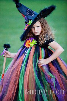 Full flower tutu dress witch costume!  www.taddletell.com