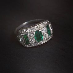 Art Deco emerald and old cut diamond ring. #joganibh . Shot by @jilliansorkinphotography . . . #emerald #artdeco #artdecojewelry #diamond #oldcutclub #platinum #love #antiquejewelry #ring #antique #estatejewelry #want #vintagejewelry #vintagering #antiquering #jewelry #oldcutdiamond #gemstones #instagems #instajewelry