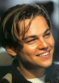 Leonardo Dicaprio as Jack Dawson watching Titanic...getting ready to cry my eyes out