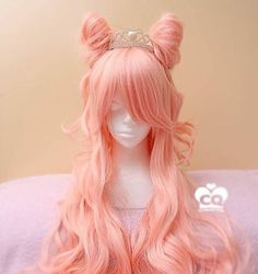 Long Curly Pastel Milky Peach Lolita Harajuku Wig sold by Peachiie Shop. Shop more products from Peachiie Shop on Storenvy, the home of independent small businesses all over the world. Cosplay Hair, Cosplay Wigs, Kawaii Hairstyles, Wig Hairstyles, Hairstyle Men, Funky Hairstyles, Formal Hairstyles, Kawaii Wigs, Anime Wigs