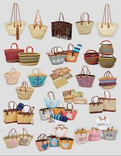 FRENCH MARKET BASKETS [they cost a bundle in the US but in France they are about $4 a piece. take the trip. buy the baskets. jh] Diy Bags Purses, Ethnic Bag, Boho Bags, Jute Bags, Basket Bag, Vintage Purses, Fabric Bags, Summer Bags, Handmade Bags