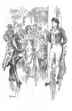 Is this thay scene from Pride and Prejudice where Sir Lucas tries to get Elizabeth to dance with Mr. Darcy? Hmmm....