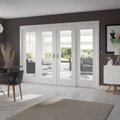 Browse a great selection of interior room divider door sets at Leader Doors. Fast next day delivery on all XL Joinery products and low pricing. Indoor Sliding Doors, Indoor Glass Doors, Sliding Door Room Dividers, Internal Folding Doors, White Internal Doors, Sliding Door Design, Room Divider Doors, Modern Sliding Doors, Double Doors Interior