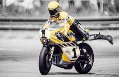 At the Races - Lawrence Gaynor - Via Ottonero #motorcycles #caferacer #motos | caferacerpasion.com