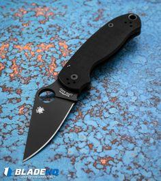 "Spyderco Para 3 Compression Lock Knife Black G-10 (3"" Black) C223GPBK"