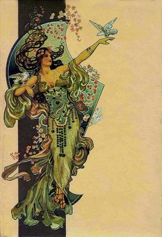 Art Nouveau postcard from Raphael Tuck & Sons