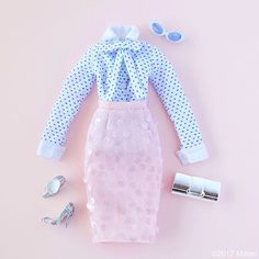 WEBSTA @ barbiestyle - Creating a retro glam look with polka dots, paillettes and a little bit of sparkle!  #barbie #barbiestyle