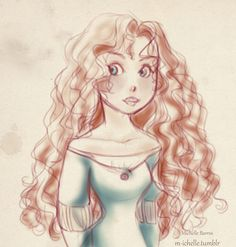 A quick Merida sketch I did a while ago, just for fun c: Texture by `cloaks Brave 01 Disney High, Disney Nerd, Disney And More, Disney Pixar, Disney Characters, Disney Style, Disney Love, Disney Princess Merida, Brave Movie