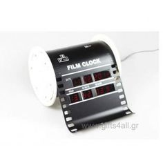 Digital table watch in the shape of old cinefilm. It works with electricity and shows digital the time and the day.Ideal gift for business opening or for office Table Watch, Cool Gifts, Projects To Try, Shapes, Wall Clocks, Cool Stuff, Digital, Gift Ideas, Business