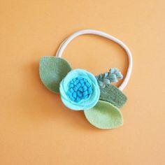 MENTA / / singolo fiore band o alligatore clip / / feltro fiore fascia