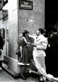 Niki de Saint Phalle with Jasper Johns, 1961 (Les Nouveaux Realistes)