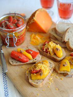 【ELLE a table】アンチョビ風味のパプリカマリネ ミモレットチーズ削りレシピ エル・オンライン