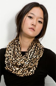 Collection XIIX Sequin Circle Scarf