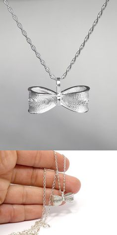 Silver Bow Necklace / Filigree Bow by SusanaTeixeiraJewels on Etsy