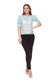 Bluza vaporoasa cu dungi model 6044