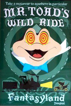 Vintage Disney Collector S Poster 12 X 18 Fantasyland Mr Toad S Wild Ride Disneylândia Vintage, Disney Vintage, Vintage Disney Posters, Retro Disney, Photo Vintage, Vintage Disneyland, Disneyland California, Anaheim California, California Trip