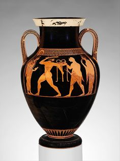 Signed by Andokides | Terracotta amphora (jar) | Greek, Attic | Archaic | The Metropolitan Museum of Art
