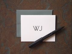 Monochrome stationary: understated and elegant. Excellent Father's Day or Boss' Day gift.