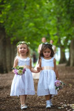 Flower girls in matching white dress with bouquet and flower head piece walking down the aisle at the wedding ceremony going to steal your show, period. Photo by Twenty One Studio Wedding Photographer Melbourne, Melbourne Wedding, Flower Girls, Flower Girl Dresses, Flower Headpiece, Head Piece, Walking Down The Aisle, Twenty One, The Twenties