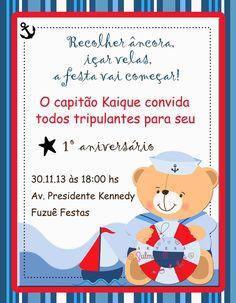 Baby Shower Marinero, Baby Shawer, Nautical Party, 1st Birthday Parties, Baby Boy Shower, Family Guy, Teddy Bear, Invitations, Boys