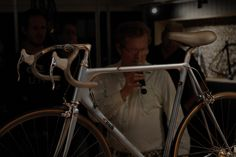 The night bicycle collector Greg Softley came to Brisbane