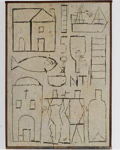 Joaquin Torres-Garcia: Grafismo inciso con dos figuras, 1930.