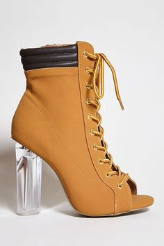 4fa0e04606ce4 Forever 21. Clear Ankle BootsCamel Ankle BootsLace Up ...