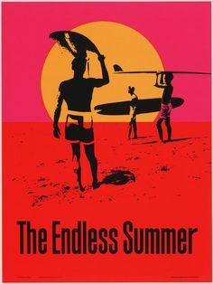 "John Van Hamersveld. The Endless Summer. 1966. Silkscreen. 40 x 29 1/2"" (101.5 x 75 cm). Personality Posters Inc., New York. Gift of the designer. SC26.1987. Architecture and Design"
