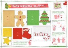 Imprima, recorte e monte essas lindas tags-enfeites e deixe seu Natal bem charmoso e craft!   E descubra estes mimos especiais para o Natal:  AQUI