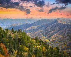 The beautiful Smoky Mountains.