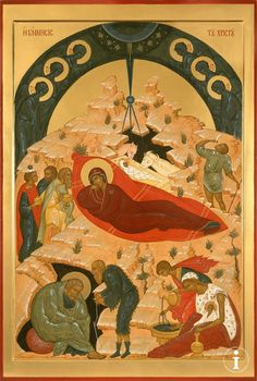 Nativity of Christ Life Of Christ, Orthodox Icons, Mother Mary, Sacred Art, Christian Art, Catholic, Religion, Marvel, Fine Art