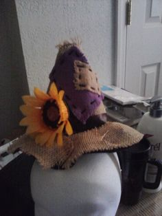Scarecrow hat for the Halloween scarecrow costume I made my granddaughter, Kaiden
