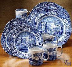 spode blue italian dinnerware - Google Search